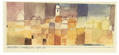 Paul Klee View of Kirwa Giclee Canvas Print Paintings Poster Reproduction Copy