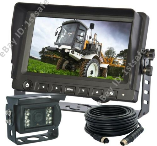 """7/"""" DIGITAL REAR VIEW REVERSE CAMERA SYSTEM FOR AGRICULTURE FARM TRACTOR CAB CCTV"""