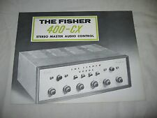 Original FISHER 400-CX Tube Preamplifier Single Sheet Factory Sales BROCHURE