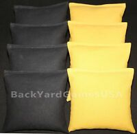 Cornhole Bean Bags Black & Gold All Weather Bags