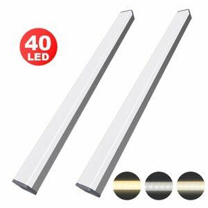 40LED Unterbauleuchte USB Wiederaufladbar mit Magnetischer Küche Schrank Licht