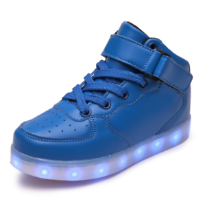 Details About Boys Girls Led Light Up Sneakers Kids Autumn Winter High Top Dance Sport Shoes