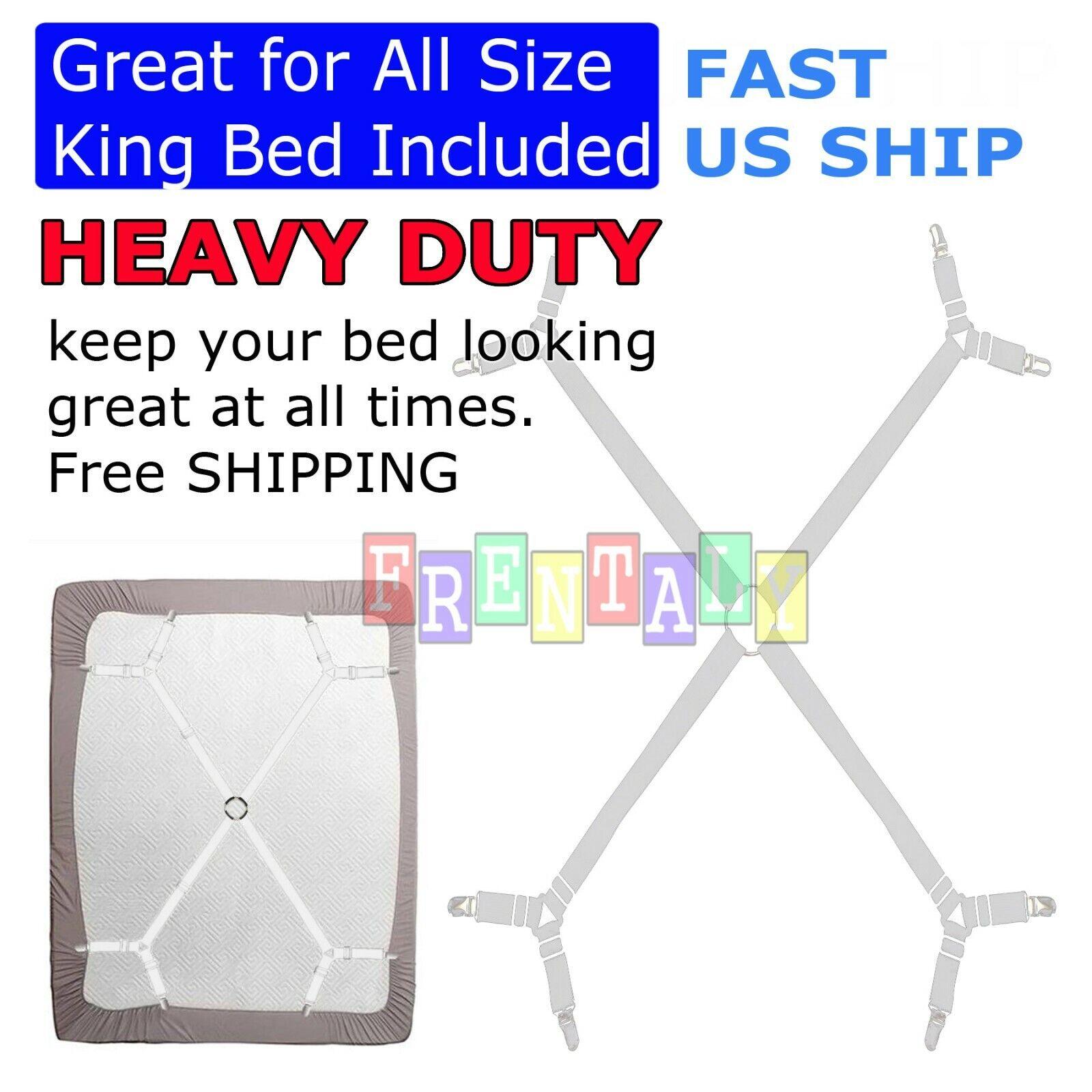 Adjustable Crisscross Bed Fitted Sheet Straps Suspenders Gripper Holder Fastener