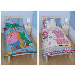 peppa wutz pig kinder bettw sche mix bettgarnitur set kids 135x200 neu ebay. Black Bedroom Furniture Sets. Home Design Ideas