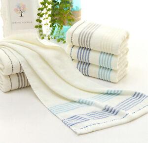 Luxury Stripe Towel 100 Cotton Hand Bath Bathroom Towels Ebay