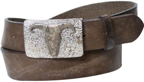Fronhofer ceinture nature cuir western Boucle Longhorn Buckle 17329