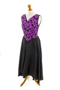 vintage ballkleid vokuhila schwarz lila abendkleid hÖpfner punkte 38  ebay
