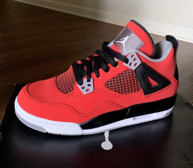 c97fdce7af8 Nike Air Jordan 4 Retro GS Toro Bravo Fire Red Cement Grey 408452-603 Sz  6.5y