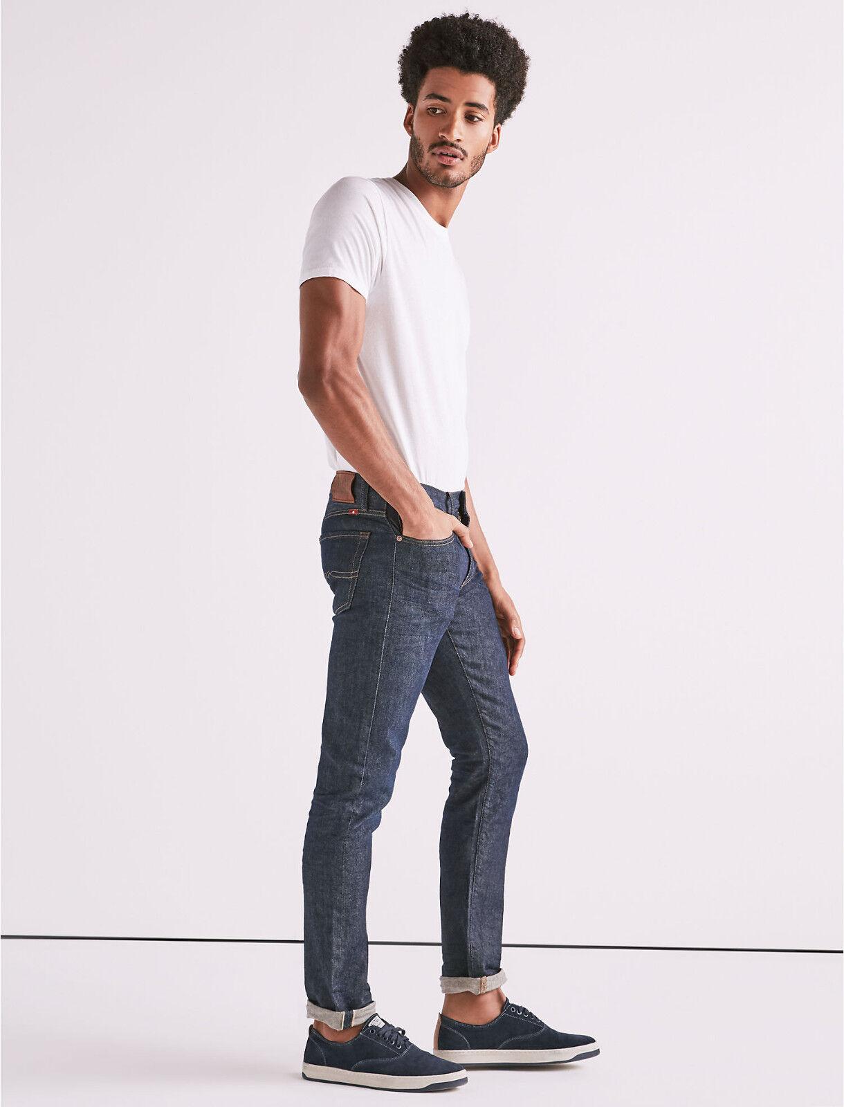 Lucky Brand Herren 110 Skinny Italien Candiani Kanten Jeans Neu 33x32