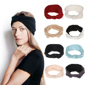 Knotted Accessories Head Yoga Fashion Twisted Headband Women Elastic Hair Band