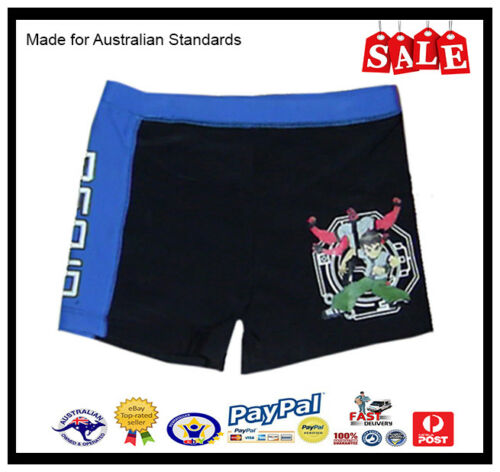 SALE GENUINE AUS LICENSED Ben 10 Boys Swimming Togs Bathers Trunks Quick Dry
