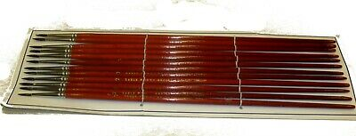 SOLO HORTON   RED SABLE  BRIGHTS  SIZE 6 SIGN WRITER LETTERING Brushes DOZ FLATS