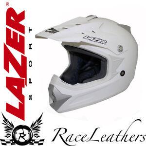 LAZER-X6-SOLID-GLOSS-WHITE-MOTORCYCLE-MOTORBIKE-OFFROAD-MOTO-X-MOTOCROSS-HELMET