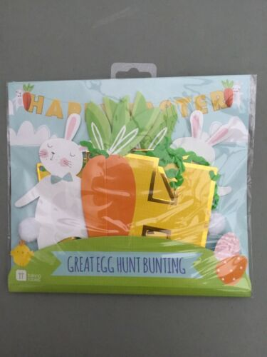 Talking Tables Great Egg Hunt Bunting New. Happy Easter Bunting