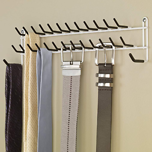 Details About New Tie Belt Rack Hanger Door Wall Mount 27 Hooks Necktie Scarf Holder Organizer