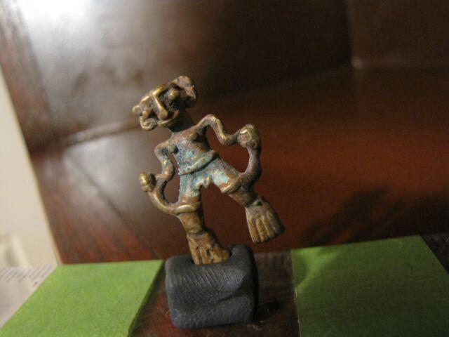 *AA, Pre Columbian, Gold/Copper, C/A, Tumbaga, Authentic Necklace Pendant, Bead