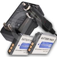2 Battery + Charger For Sony Cyber-shot Dsc-t500/b Dsc-t500/r Digital Camera