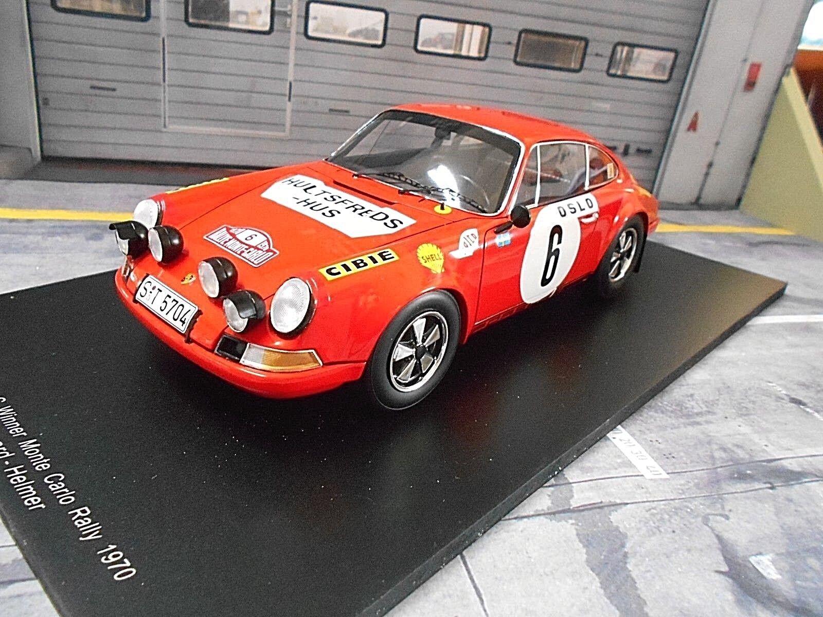 Porsche 911 S S S ST Rallye Monte Carlo 1970 #6 Winner Waldegaard Shell Spark 1:18 | Dans De Nombreux Styles  | Les Clients D'abord  | En Ligne  afeef1