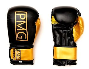 Details About Pmg Fitness Rex Leather Boxing Gloves Fight Mma Punch Bag
