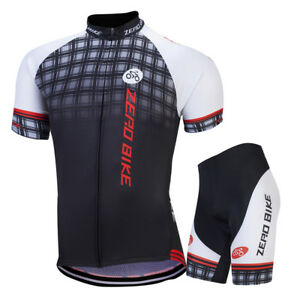 Black Grid Cycling Jersey Set Men s Riding Bike Bicycle Jerseys ... 9a492f4b8