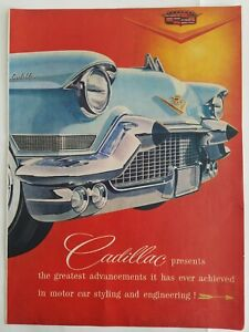 1957-Cadillac-Sesenta-Especial-y-Eldorado-Biarritz-Coche-3-Pagina-Vintage-Ad