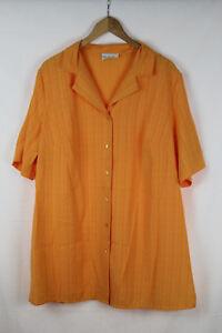 ULLA-POPKEN-Damen-Bluse-orange-Groesse-46-48