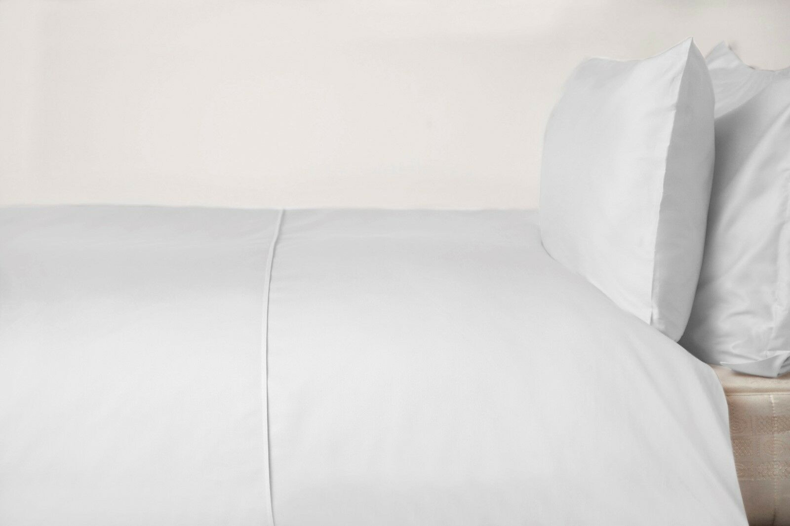 450Thread Count Pima Cotton Single Bed Duvet Cover in Weiß