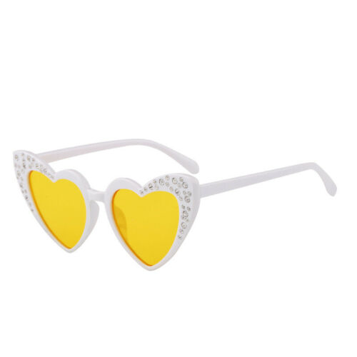 Kids Heart Sunglasses Boys Girls Rhinestone Fashion Love Eyewear Baby Sun