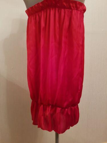 50er Rosen Schulterfrei 3d Cocktailkleid Jahre Sommerkleid Mit Rot O4gZqH