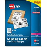 Avery Paper Receipt Shipping Labels 5-1/16x7-5/8 100/bx We 27900 on sale