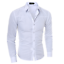 thumbnail 7 - Blouse-Men-039-s-Slim-Fit-Shirt-Long-Sleeve-Formal-Dress-Shirts-Casual-Shirts-Tops