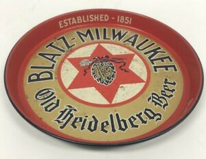 Vintage Blatz Milwaukee Wisconsin Old Heidelberg Advertising Beer Serving Tray