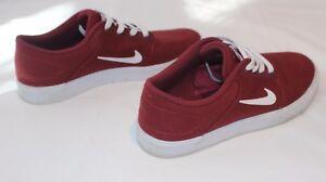eda3758f34631 Image is loading Nike-SB-Portmore-Canvas-Team-Red-White-Skateboarding-