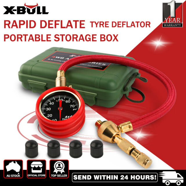 X-BULL Tyre/Tire Deflator Rapid  Air Deflators 4WDwith Pressure Gauge Valve Tool
