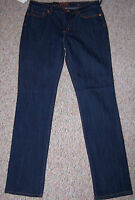 Seven 7 Blue Dark Rinse Denim Slim Premium Blue Label Jeans Sze 13 Juniors Or 31