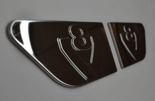 2 Pièces Miroir Acier Inoxydable Poli Accessoire pour Scania R V8 Ailes