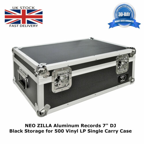 "1 X NEO Aluminum Records 7"" DJ Black Storage for 500 Vinyl LP Single Carry Case"