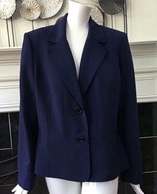 400d7ef8e74b6 Kasper Womens Plus Size 16 Two Button Blazer Jacket Navy Career Business  Work P3 for sale online