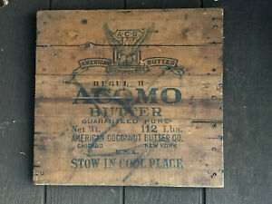 Antique Wood Box Lid from Acomo Butter