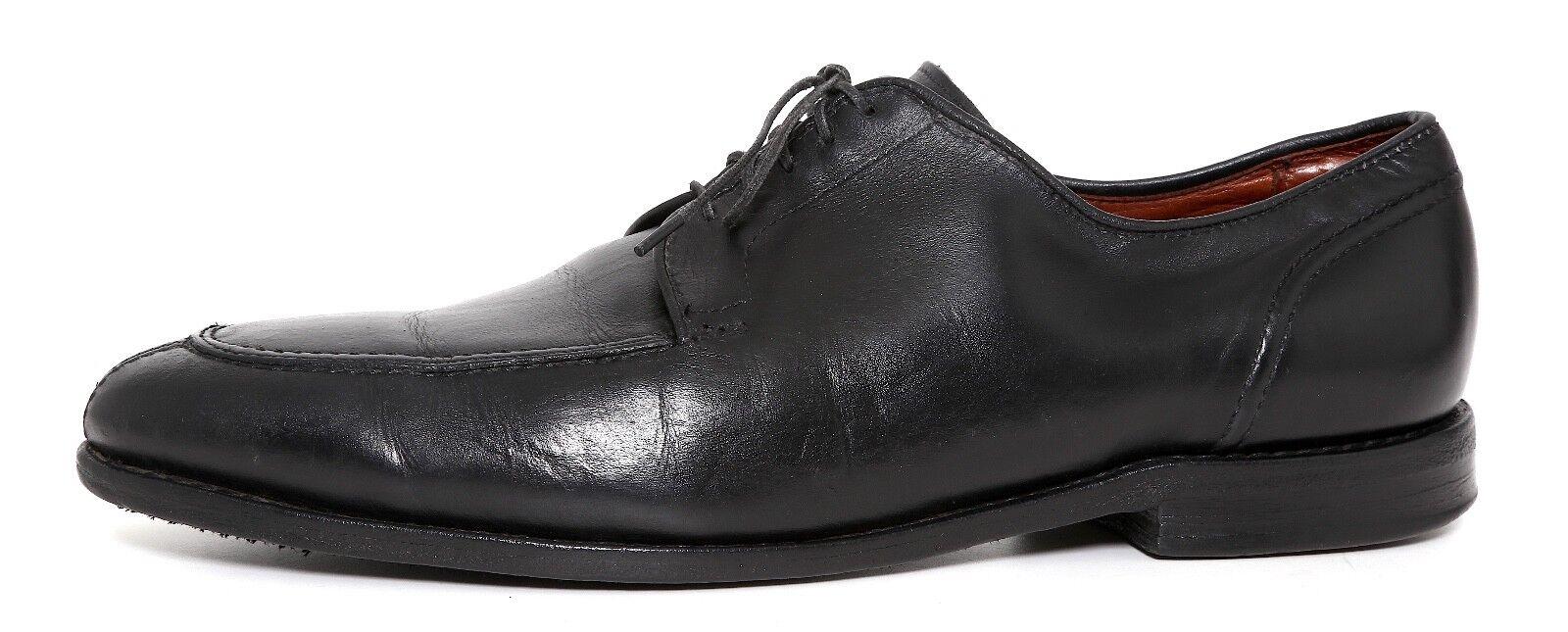 Allen Edmonds LaSalle Split Toe Leather bluecher Black Men Sz 10.5 D 4159