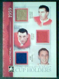 MAURICE-RICHARD-J-PLANTE-JEAN-BELIVEAU-AUTHENTIC-PIECES-OF-GAME-USED-JERSEY-9