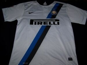 new arrival a6ab8 90bf6 Details about Inter Milan Soccer Jersey #12 FC Football Club Pirelli Nike  white shirt size XL
