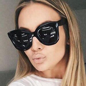 Cat Eye Sunglasses Ladies Women Retro Vintage Shades Oversized Designer Large