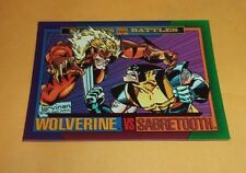 Wolverine vs Sabretooth # 149 1993 Marvel Universe Series 4 Base Trading Card