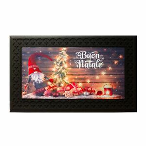 Zerbino natalizio Buon Natale Gnomo con luci a led e musica Z621