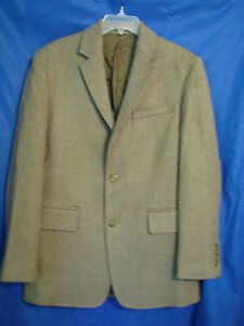 J. CREW Ludlow BROWN/CREAM HERRINGBONE Wool Jacket SPORT COAT BLAZER 2-Btn SZ S