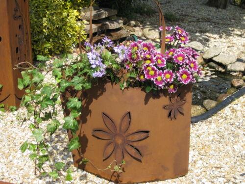 Rost Tasche TA02 Deko Rostdeko Edelrost Schale Blumen Taschen Skulptur Metall