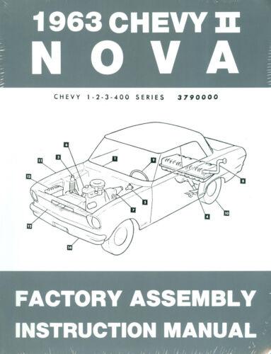 1963  NOVA//SS//CHEVY II FACTORY ASSEMBLY MANUAL
