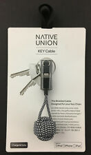 Native Union Braided KeyCable USB-to-Lightning Charge Sync Cable Zebra KEY-L-ZEB