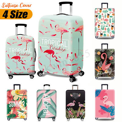 Elastic Travel Luggage Cover Colorful Tropical Pineapples Suitcase Protector for 18-20 Inch Luggage